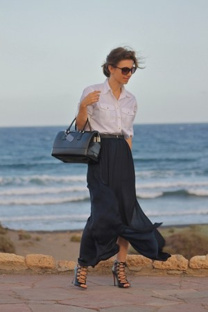 Zara skirt - Furla bag - Zara heels