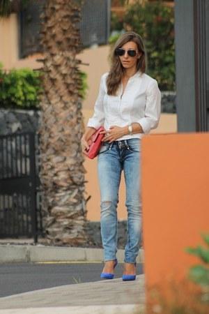 met jeans - Diane Von Furstenberg bag - Zara heels