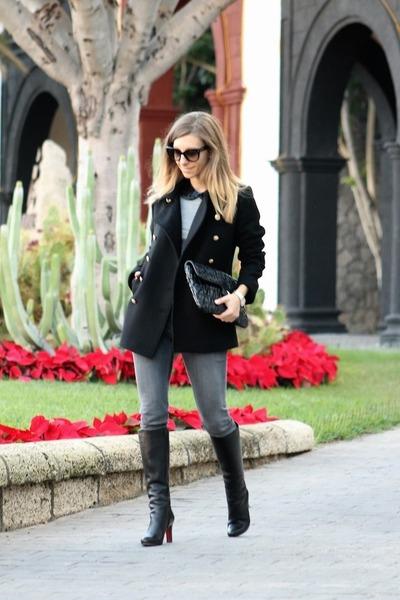 Christian Louboutin boots - Zara coat