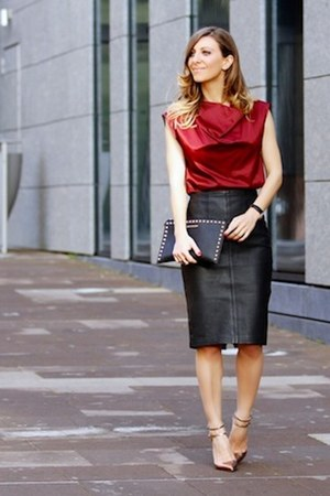 Michael Kors bag - Mango skirt - Zara heels
