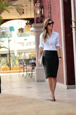 Zara shirt - Mango skirt