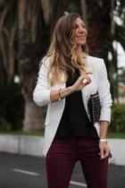 Victoria Beckham jeans - Michael Kors bag - SANDRO top - Hissia bracelet