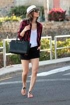 maroon Zara shirt - Michael Kors bag - Mango shorts