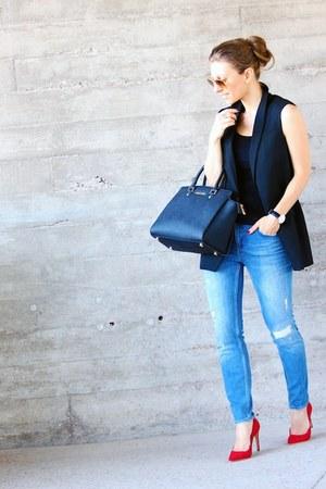 Zara jeans - Michael Kors bag - Mango vest