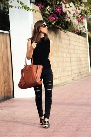 Mango jeans - balenciaga bag - Zara top