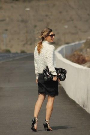 Zara dress - Zara sweater - Jorge Bischoff sandals