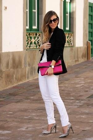 Zara jeans - Zara blazer - Mango heels