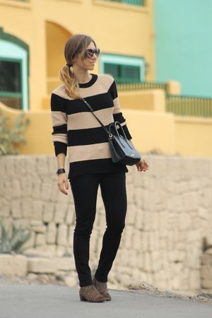 Zara sweater - Burberry jeans