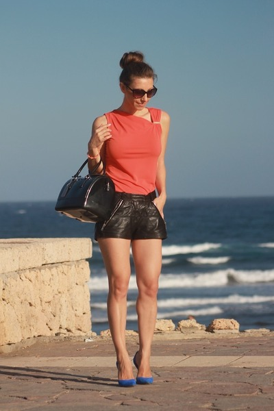 Maje shorts - Michael Kors top - Zara heels