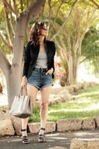 guess by marciano blazer - Prada bag - Zara shorts