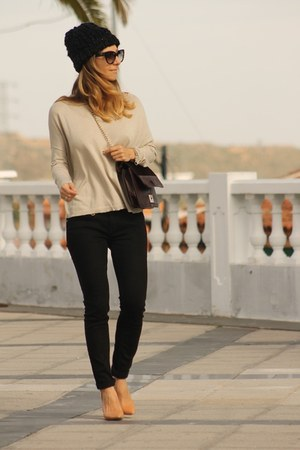 Max and Co bag - Burberry jeans - Max Mara sweater