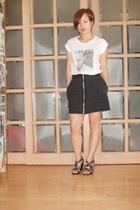 D&G t-shirt - richard chai skirt - Burberry shoes