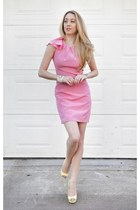bubble gum Bensoni dress - white Kenneth Jay Lane bracelet