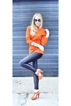 black American Apparel pants - carrot orange Topshop heels