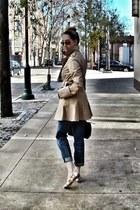 Juicy Couture coat - Current Elliot jeans - Missoni flats