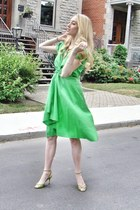 chartreuse Calypso St Barth dress - chartreuse Manolo Blahnik heels