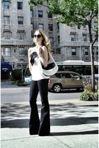 black J Brand jeans - white Prada bag - white Jay Godfrey blouse