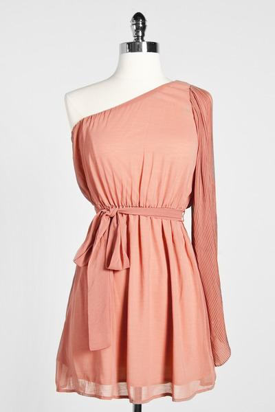 one shoulder Tres dress