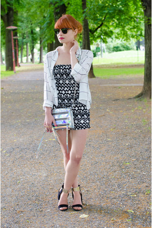 mini 5-zip Rebecca Minkoff purse - Zara sandals - aztec H&M romper