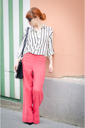 palazzo Forever 21 pants - striped H&M shirt