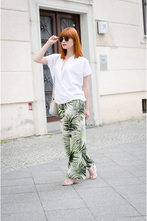 palm print Forever 21 pants