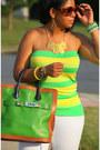 Green-proenza-schouler-bag-yellow-flared-leg-zara-jeans