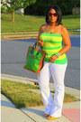 Yellow-flared-leg-zara-jeans-green-proenza-schouler-bag