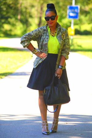 full Zara skirt - camouflage What Goes Around Comes Around jacket