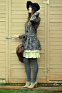 Gray-china-town-dress-black-jessica-simpson-hat-camel-zellers-shoes-cream-
