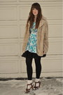 Brown-h-m-shoes-camel-vintage-fur-jacket-sky-blue-beacons-closet-dress-bla