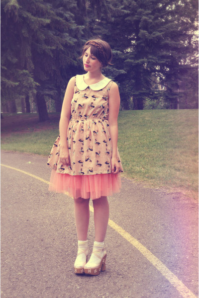 bubble gum tutu OASAP skirt - light pink dress deer romwe dress