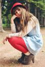Blue-oasap-dress-ivory-instance-socks-ivory-zlz-blouse