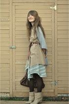 heather gray gap from moms closet cardigan - beige Zara boots
