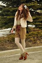 tawny fur boots atseoulcom boots - dark khaki Suzy Shier shorts