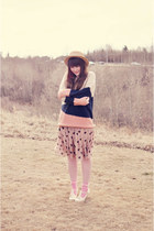 light pink sweater Sheinside sweater - beige Sheinside skirt - ivory OASAP heels