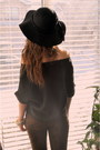 Black-hat-floppy-hat-jessica-simpson-hat-eggshell-faux-fur-vintage-jacket-br