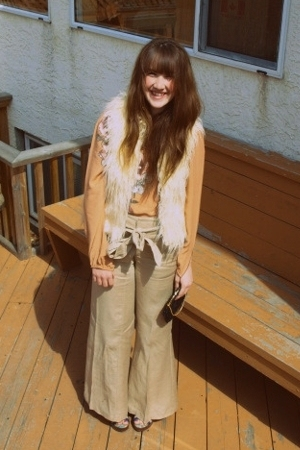 vintage from value village - Zara - forever 21 pants - Rocket Dog shoes - grandm
