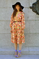 light orange ravenous creatures vintage online dress