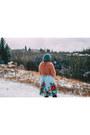 Heather-gray-h-m-hat-aquamarine-oasap-skirt-pink-value-village-tie