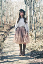 salmon tulle skirt Chicwish skirt