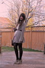 Brown-forever-21-dress-brown-the-bay-tights-beige-zellers-boots-beige-gap-
