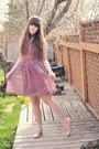 Magenta-mod-cloth-dress-light-purple-dolly-darling-hair-accessory