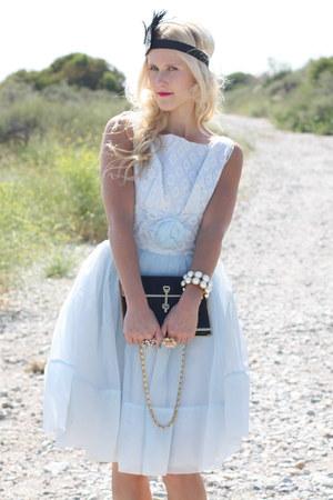 vintage dress - vintage purse - Forever 21 accessories