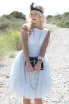 vintage dress - vintage purse - Forever 21 accessories