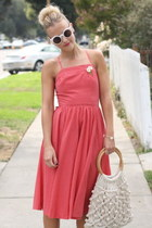 vintage dress - vintage bag - Nasty Gal sunglasses