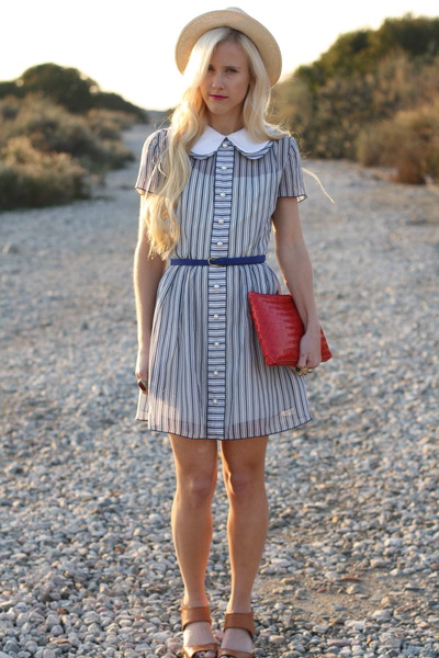 vintage dress - Forever21 hat - vintage bag - Forever21 belt