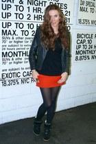 red Maje skirt - black Isabel Marant sneakers