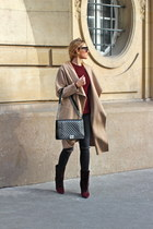 tan Zara coat - Isabel Marant boots - Chanel bag