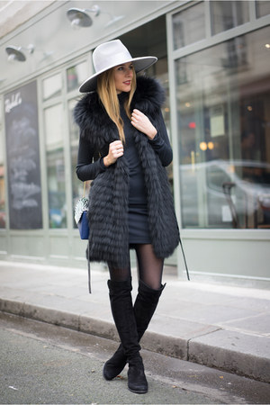 stuart weitzman boots - Zara dress