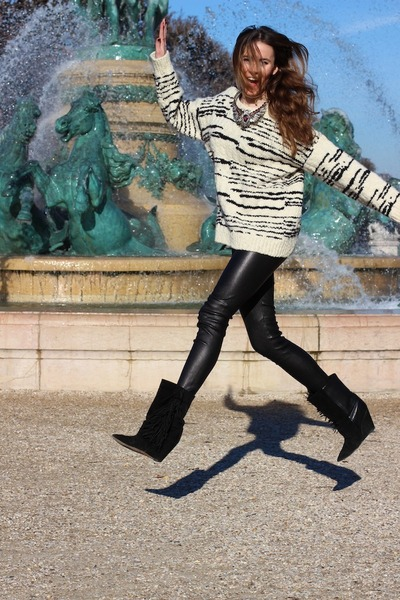 IRO jumper - Isabel Marant boots - Bel Air leggings